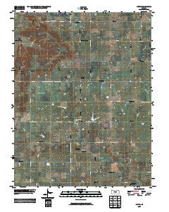 Devon Kansas Historical topographic map, 1:24000 scale, 7.5 X 7.5 Minute, Year 2009
