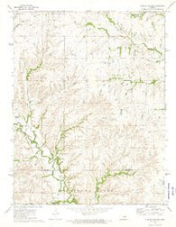 Diamond Springs Kansas Historical topographic map, 1:24000 scale, 7.5 X 7.5 Minute, Year 1972