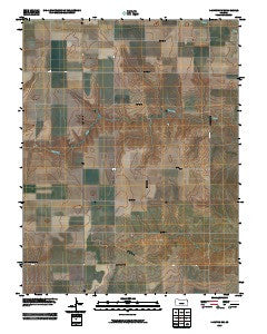 Dighton SW Kansas Historical topographic map, 1:24000 scale, 7.5 X 7.5 Minute, Year 2009