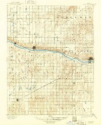 Dodge Kansas Historical topographic map, 1:125000 scale, 30 X 30 Minute, Year 1892