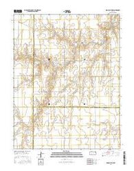 Dodge City NW Kansas Current topographic map, 1:24000 scale, 7.5 X 7.5 Minute, Year 2016