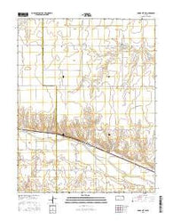 Dodge City SW Kansas Current topographic map, 1:24000 scale, 7.5 X 7.5 Minute, Year 2016