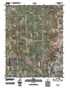 Douglass Kansas Historical topographic map, 1:24000 scale, 7.5 X 7.5 Minute, Year 2009