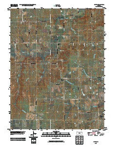 Dover Kansas Historical topographic map, 1:24000 scale, 7.5 X 7.5 Minute, Year 2009