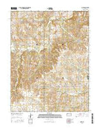 Dover Kansas Current topographic map, 1:24000 scale, 7.5 X 7.5 Minute, Year 2015 from Kansas Map Store