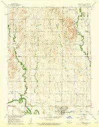 Downs North Kansas Historical topographic map, 1:24000 scale, 7.5 X 7.5 Minute, Year 1960