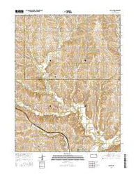 Duluth Kansas Current topographic map, 1:24000 scale, 7.5 X 7.5 Minute, Year 2016