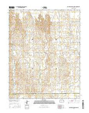 East Kiowa Creek North Kansas Current topographic map, 1:24000 scale, 7.5 X 7.5 Minute, Year 2015 from Kansas Maps Store