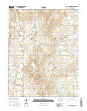 East Kiowa Creek South Kansas Current topographic map, 1:24000 scale, 7.5 X 7.5 Minute, Year 2015 from Kansas Maps Store
