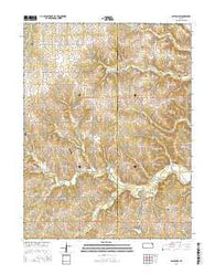 Easton SW Kansas Current topographic map, 1:24000 scale, 7.5 X 7.5 Minute, Year 2016