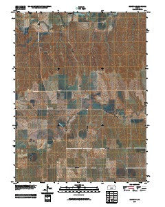 Edmond SE Kansas Historical topographic map, 1:24000 scale, 7.5 X 7.5 Minute, Year 2009