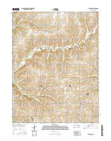 Effingham Kansas Current topographic map, 1:24000 scale, 7.5 X 7.5 Minute, Year 2016