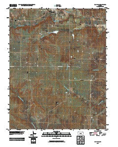 Elk Falls Kansas Historical topographic map, 1:24000 scale, 7.5 X 7.5 Minute, Year 2009