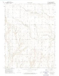 Elkader NW Kansas Historical topographic map, 1:24000 scale, 7.5 X 7.5 Minute, Year 1972