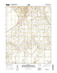 Ellinwood NE Kansas Current topographic map, 1:24000 scale, 7.5 X 7.5 Minute, Year 2016