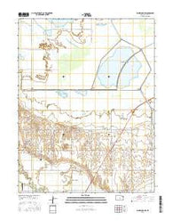 Ellinwood NW Kansas Current topographic map, 1:24000 scale, 7.5 X 7.5 Minute, Year 2016