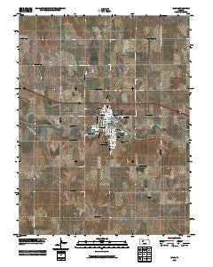 Ellis Kansas Historical topographic map, 1:24000 scale, 7.5 X 7.5 Minute, Year 2009