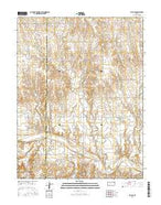 Ellis SE Kansas Current topographic map, 1:24000 scale, 7.5 X 7.5 Minute, Year 2015 from Kansas Map Store