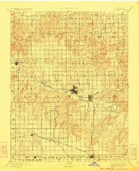 Ellsworth Kansas Historical topographic map, 1:125000 scale, 30 X 30 Minute, Year 1894