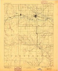 Emporia Kansas Historical topographic map, 1:125000 scale, 30 X 30 Minute, Year 1888