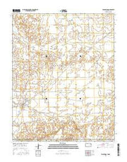 Englewood Kansas Current topographic map, 1:24000 scale, 7.5 X 7.5 Minute, Year 2015 from Kansas Maps Store