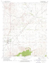 Englewood Kansas Historical topographic map, 1:24000 scale, 7.5 X 7.5 Minute, Year 1972