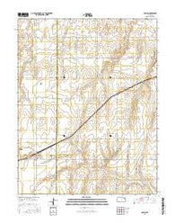 Ensign Kansas Current topographic map, 1:24000 scale, 7.5 X 7.5 Minute, Year 2016