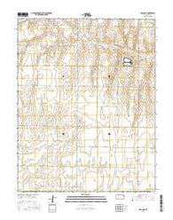 Ensign SE Kansas Current topographic map, 1:24000 scale, 7.5 X 7.5 Minute, Year 2016