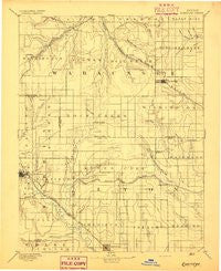 Eskridge Kansas Historical topographic map, 1:125000 scale, 30 X 30 Minute, Year 1894