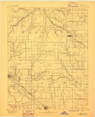 Eskridge Kansas Historical topographic map, 1:125000 scale, 30 X 30 Minute, Year 1889