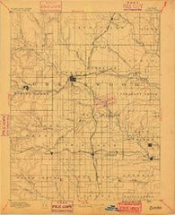 Eureka Kansas Historical topographic map, 1:125000 scale, 30 X 30 Minute, Year 1888
