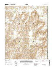 Fancy Canyon Kansas Current topographic map, 1:24000 scale, 7.5 X 7.5 Minute, Year 2015 from Kansas Maps Store
