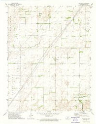Fellsburg Kansas Historical topographic map, 1:24000 scale, 7.5 X 7.5 Minute, Year 1972