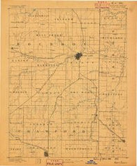 Fort Scott Kansas Historical topographic map, 1:125000 scale, 30 X 30 Minute, Year 1886