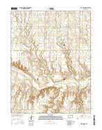 Fort Downer Kansas Current topographic map, 1:24000 scale, 7.5 X 7.5 Minute, Year 2015 from Kansas Map Store