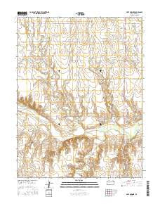 Fort Downer Kansas Current topographic map, 1:24000 scale, 7.5 X 7.5 Minute, Year 2015