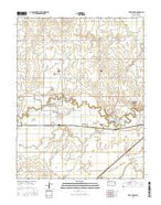 Fort Larned Kansas Current topographic map, 1:24000 scale, 7.5 X 7.5 Minute, Year 2015 from Kansas Map Store