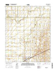 Fowler Kansas Current topographic map, 1:24000 scale, 7.5 X 7.5 Minute, Year 2016