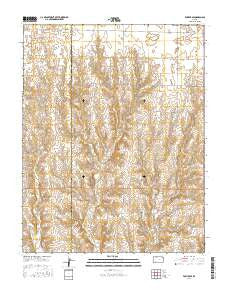 Fowler SE Kansas Current topographic map, 1:24000 scale, 7.5 X 7.5 Minute, Year 2016