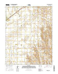 Fowler SW Kansas Current topographic map, 1:24000 scale, 7.5 X 7.5 Minute, Year 2016