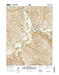 Frankfort Kansas Current topographic map, 1:24000 scale, 7.5 X 7.5 Minute, Year 2016