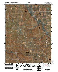 Frankfort SW Kansas Historical topographic map, 1:24000 scale, 7.5 X 7.5 Minute, Year 2009