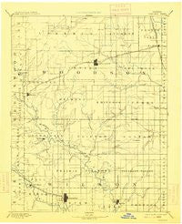 Fredonia Kansas Historical topographic map, 1:125000 scale, 30 X 30 Minute, Year 1894