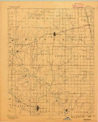 Fredonia Kansas Historical topographic map, 1:125000 scale, 30 X 30 Minute, Year 1886