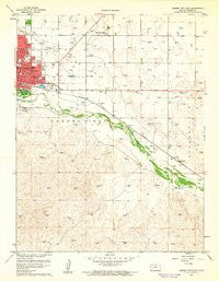 Garden City East Kansas Historical topographic map, 1:24000 scale, 7.5 X 7.5 Minute, Year 1960