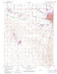 Garden City West Kansas Historical topographic map, 1:24000 scale, 7.5 X 7.5 Minute, Year 1960