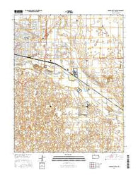 Garden City East Kansas Current topographic map, 1:24000 scale, 7.5 X 7.5 Minute, Year 2016