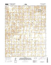 Garden City SW Kansas Current topographic map, 1:24000 scale, 7.5 X 7.5 Minute, Year 2016
