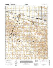 Garden City West Kansas Current topographic map, 1:24000 scale, 7.5 X 7.5 Minute, Year 2016 from Kansas Maps Store