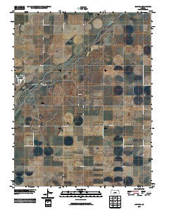 Garfield Kansas Historical topographic map, 1:24000 scale, 7.5 X 7.5 Minute, Year 2009